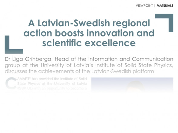 CAMART2 Latvian – Swedish regional action boosts innovation and scientific excellence